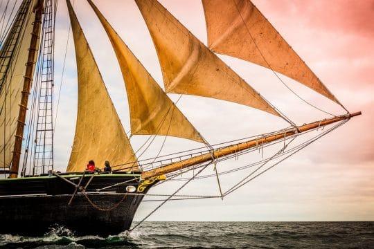 Bessie Ellen bowsprit and sails
