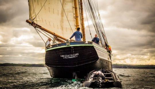 Bessie Ellen sailing around Cornwall