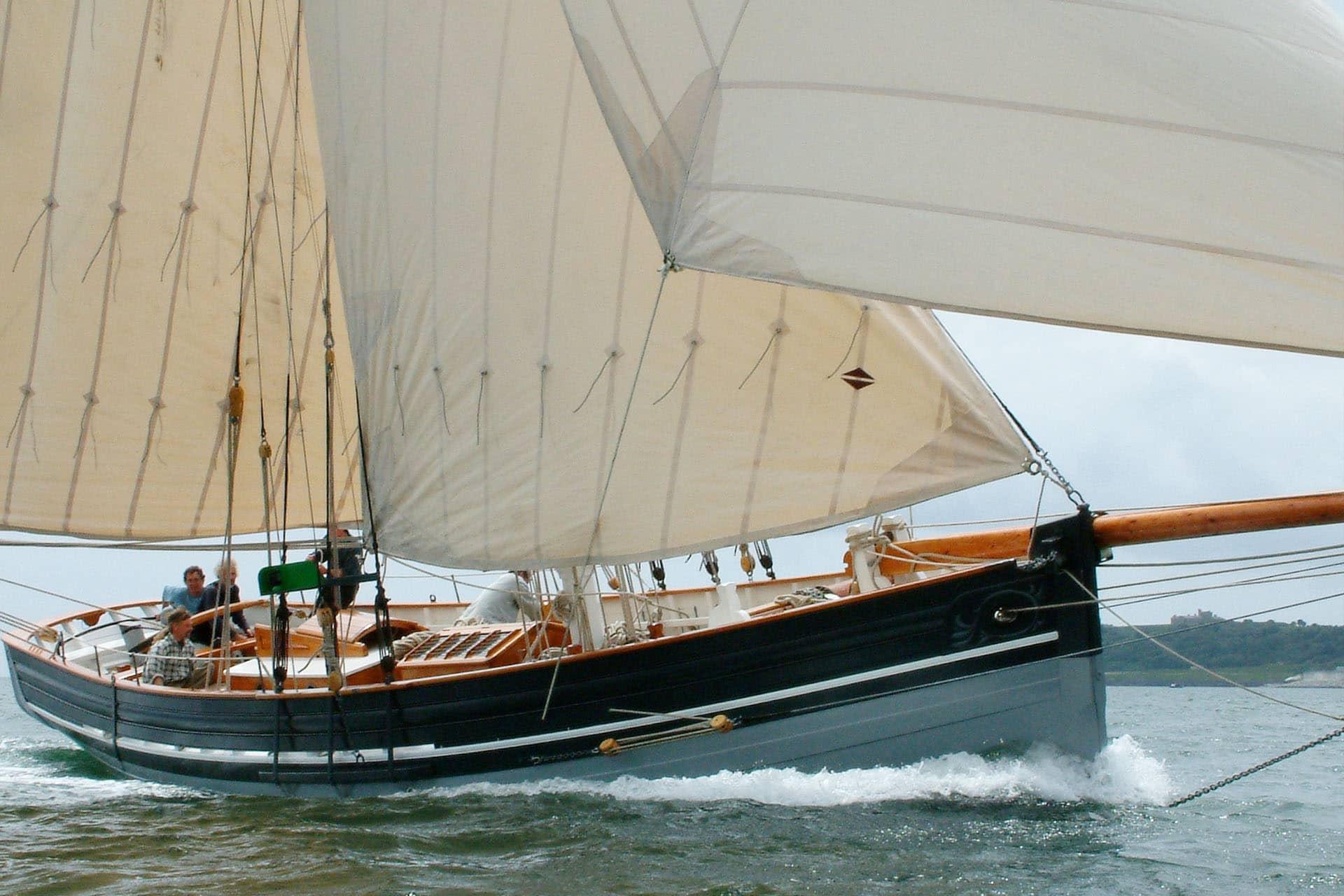Agnes under sail