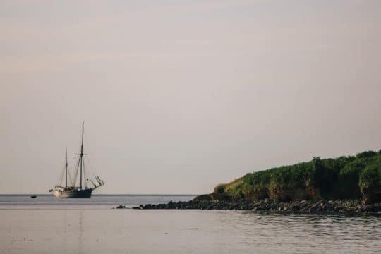 Bessie Ellen moored off Scilly credit Adj Brown
