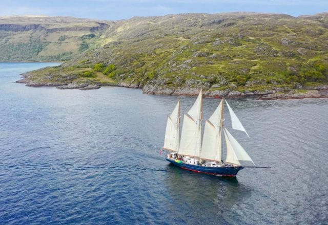 Tall Ship Sailing in the Hebrides
