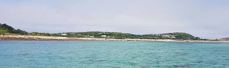 View of Bryher and Tresco channel
