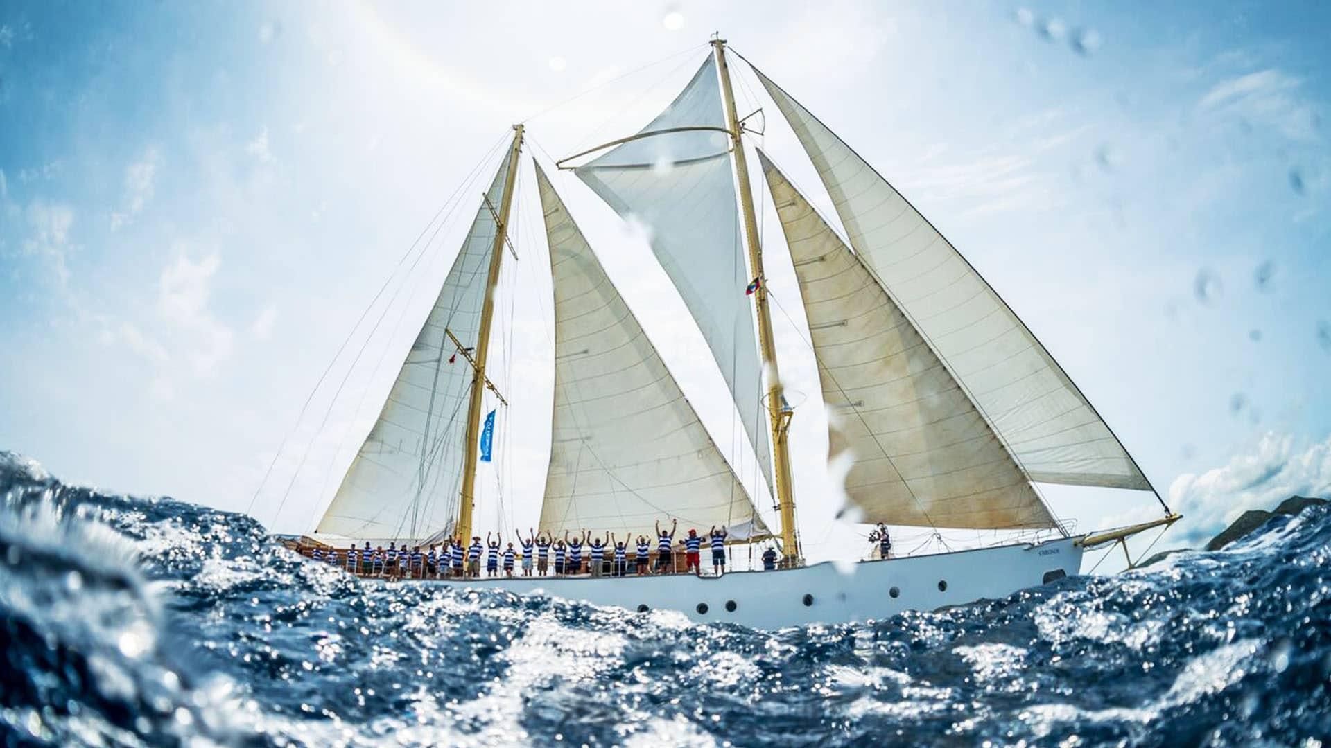 sailing side shot