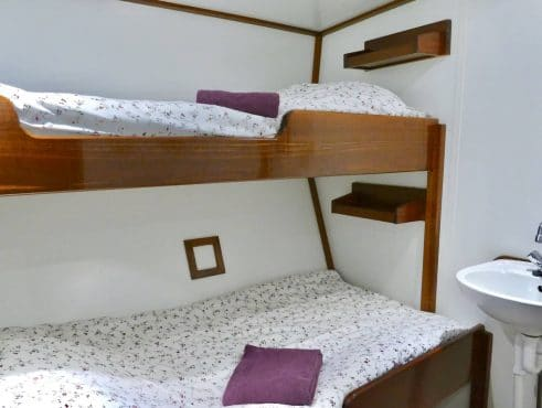 Twister tall ship accommodation sailing holidays