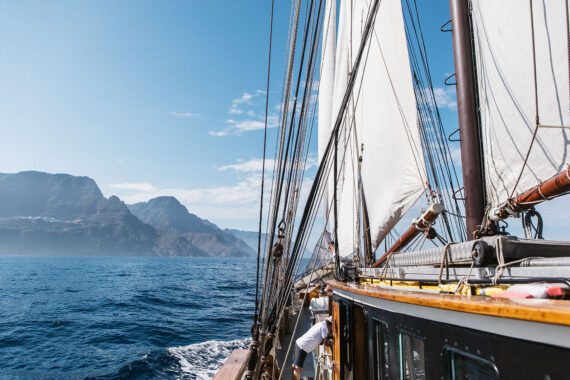 Twister sailing in the Canary Islands