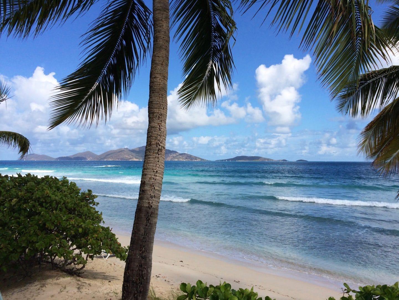 Caribbean waves beach