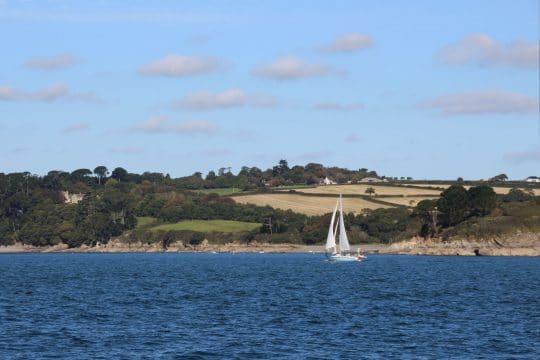 Cherokee sailing the Helford