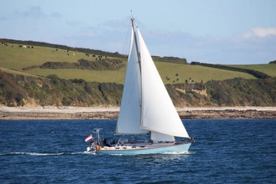 Cherokee sailing in Falmouth