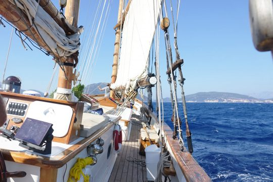 Circe sailing Greece