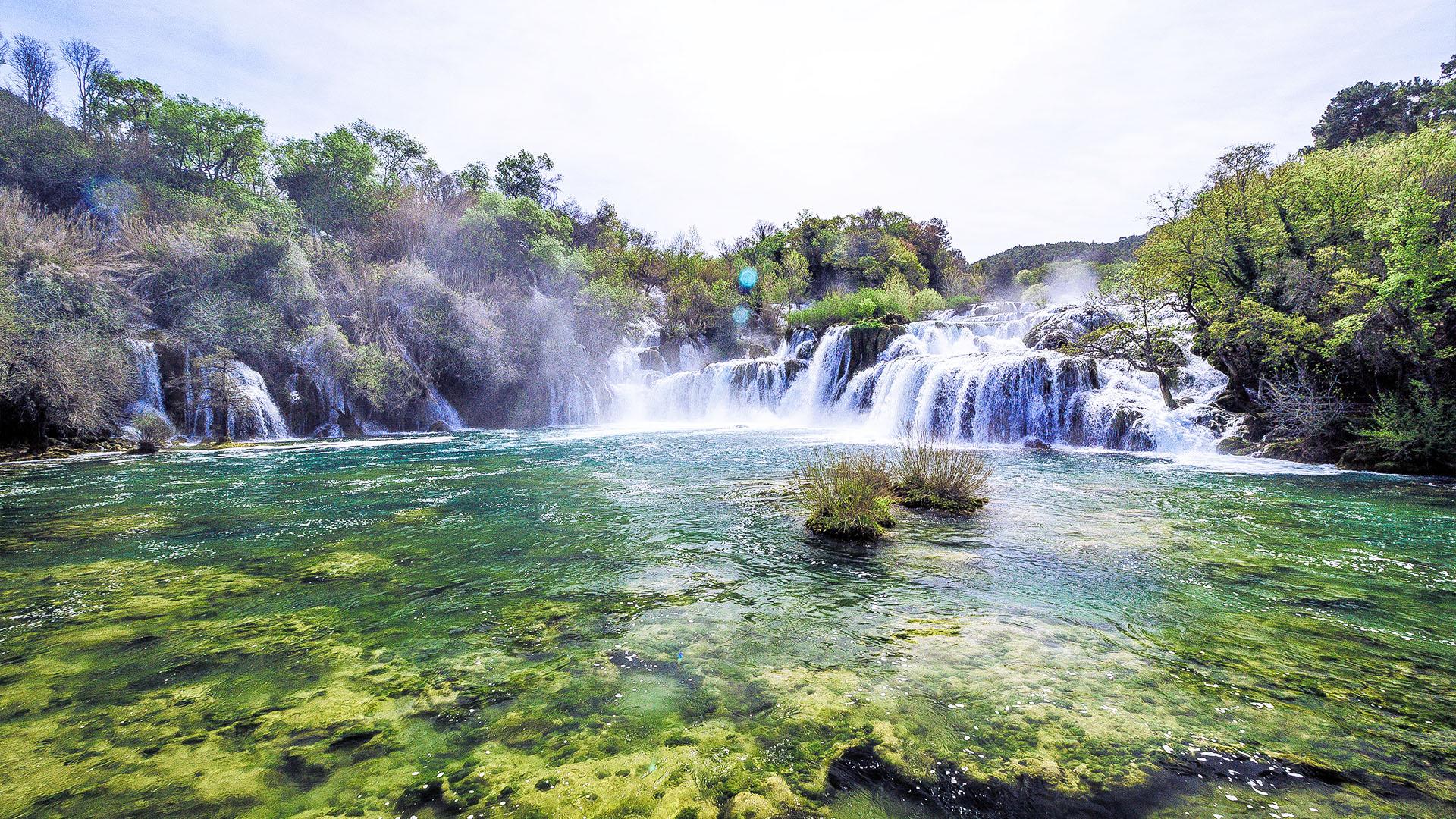 Croatia Skradin Waterfall