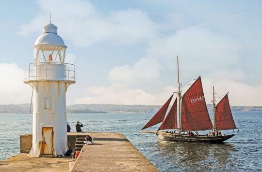 Pilgrim of Brixham - Steve McMillan. Sailing Holidays in Devon and Cornwall