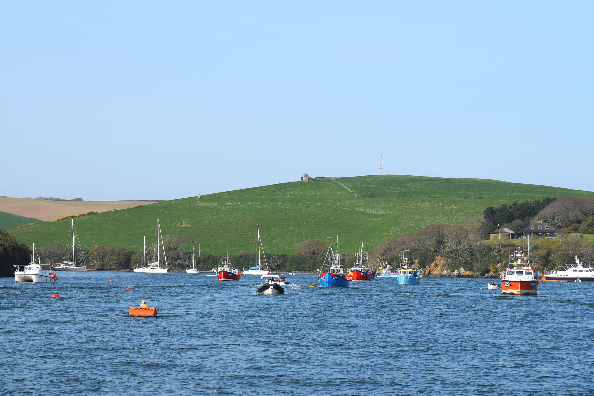 Devon Salcombe fishing boats