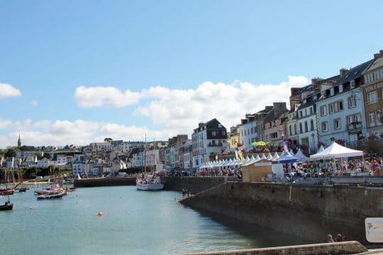 Douarnenez festival of the sea harbourside