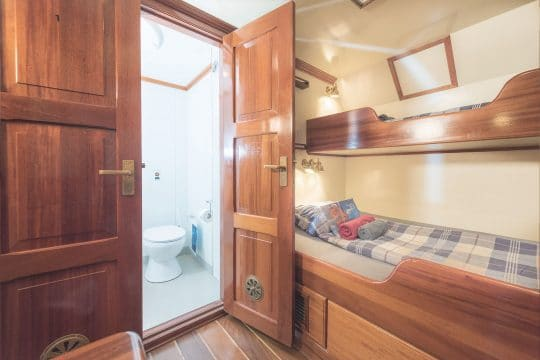 Eye of the Wind twin bunk ensuite