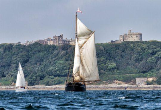 ship off the cornish coast
