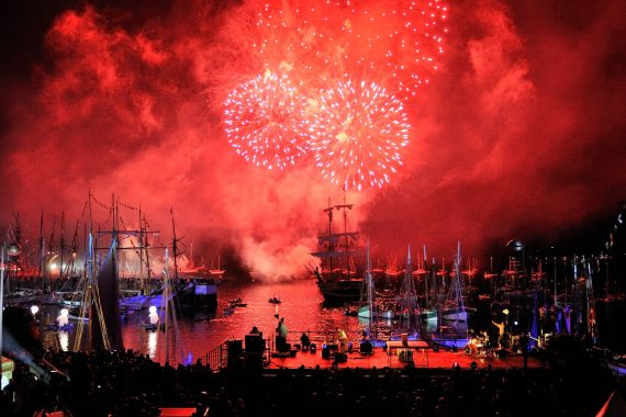 Festival fireworks in Brittany