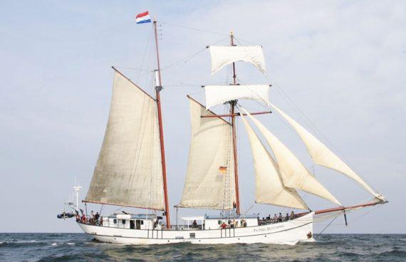 Flying Dutchman under sail