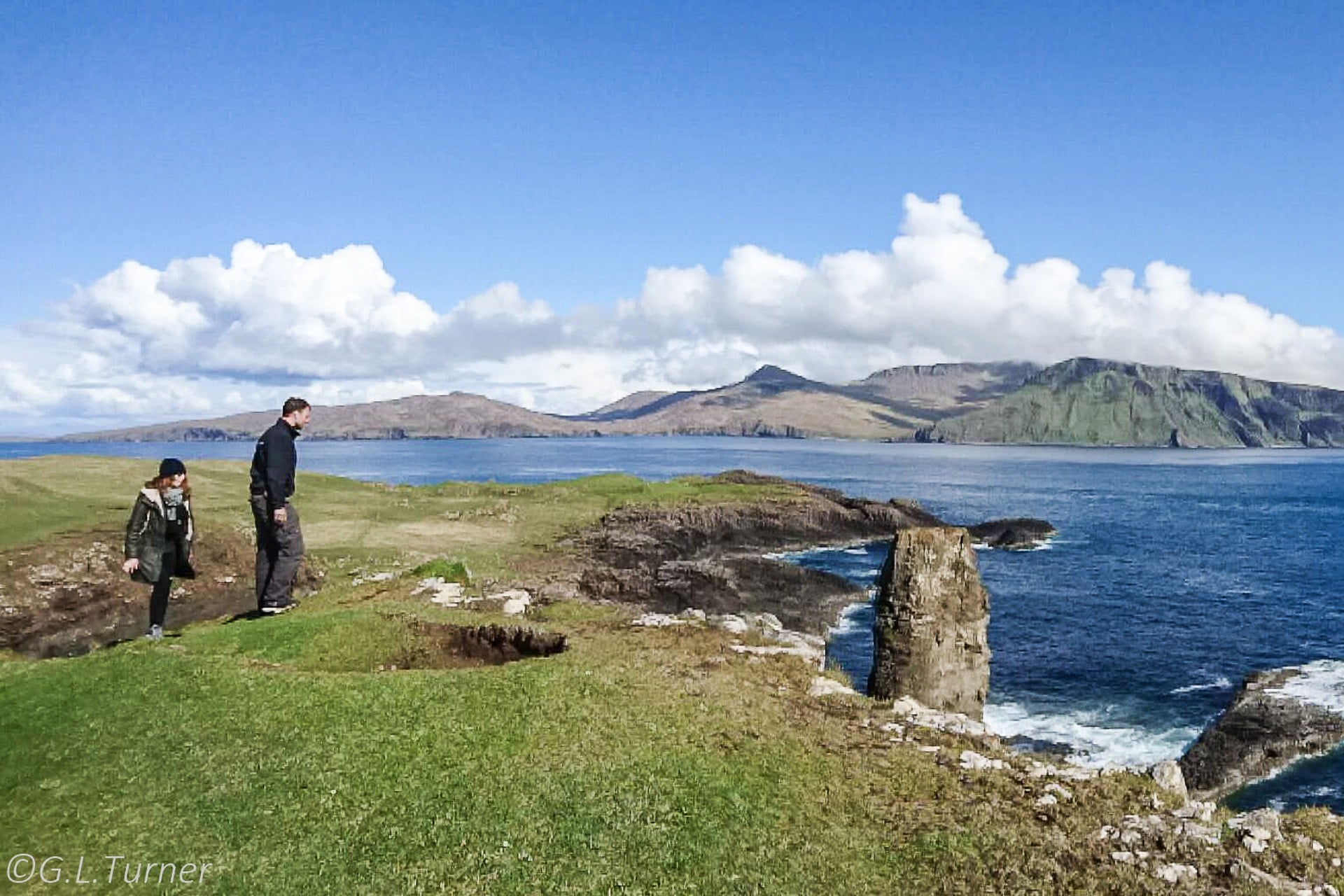 Guests exploring the Outer Hebrides