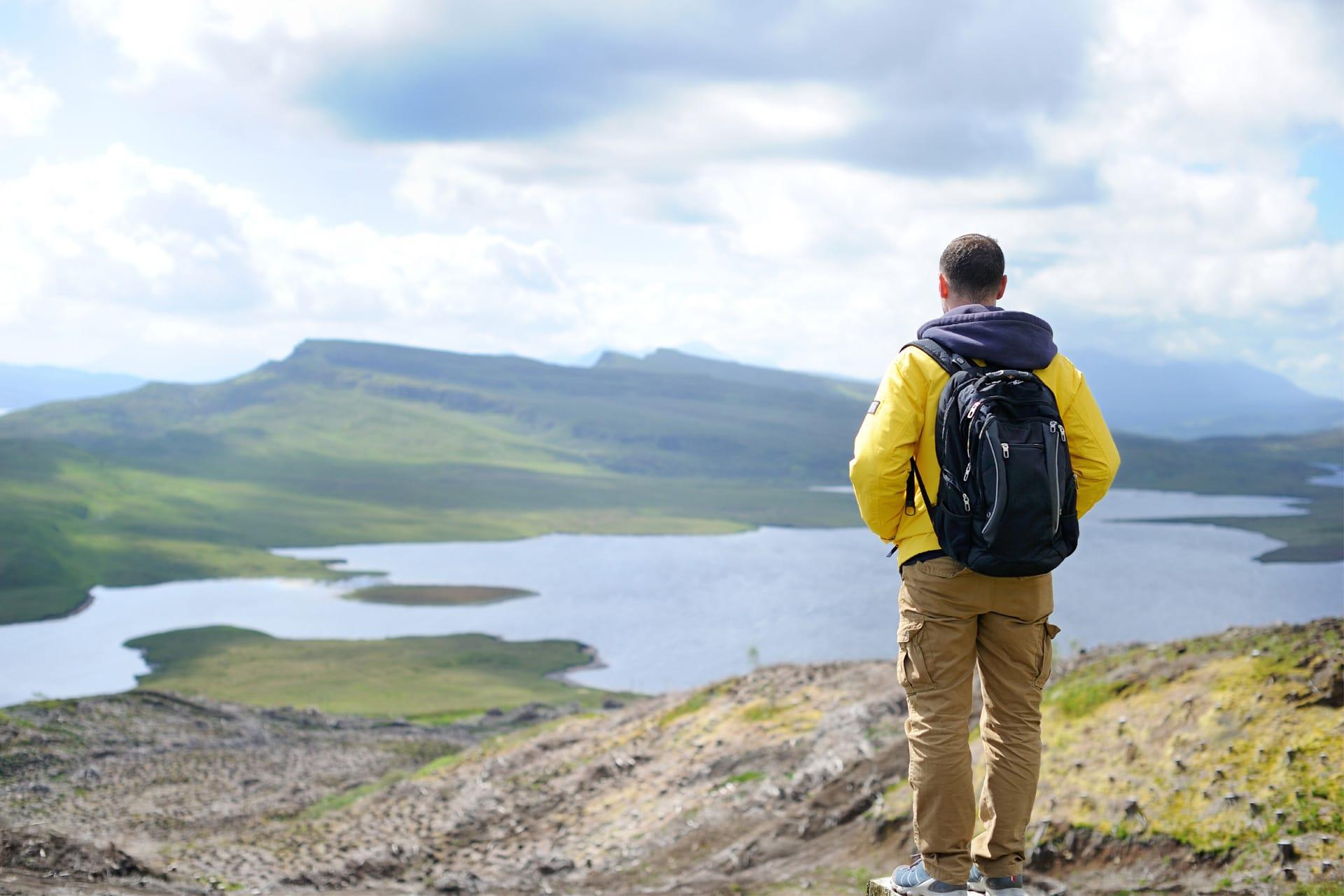Hiker on the Isle of Skye