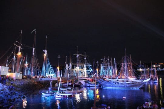 Paimpol festival by night