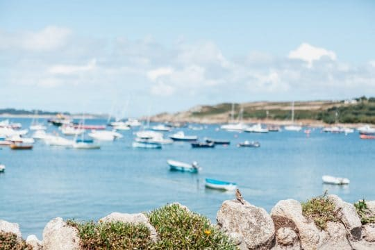 St Mary's harbour in Summer sailing holidays