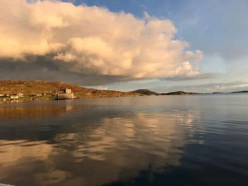Hebrides from yacht Zuza
