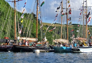 Fleet of traditional ships