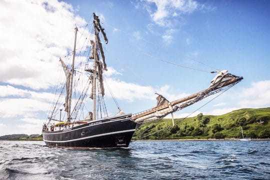 Lady of Avenel sails down