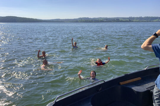 Lynher guests swimming