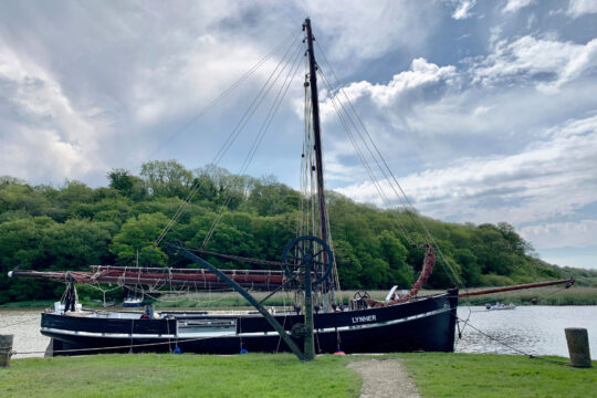 Lynher moored up river