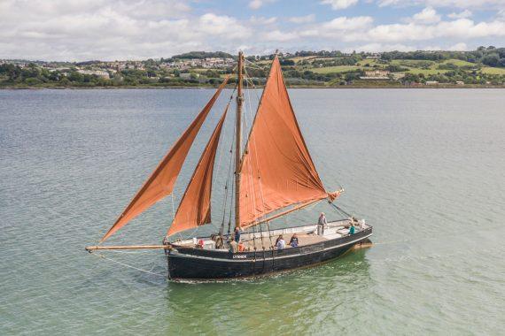 Lynher under sail