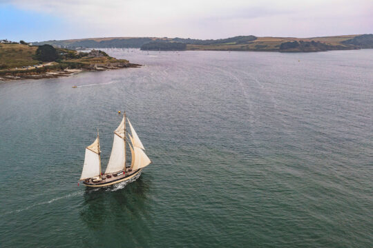 Maybe sailing by St Mawes