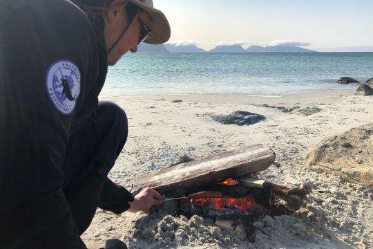 Narwhal beach fire