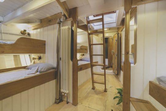 Wooden boat Pellew cabin area