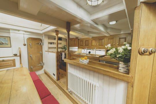 Pilot Cutter Pellew interior kitchen area