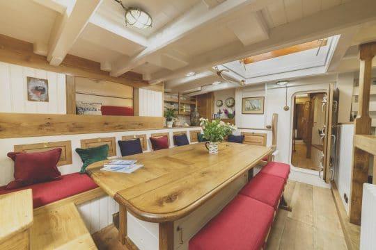 Pellew pilot cutter wooden boat below deck
