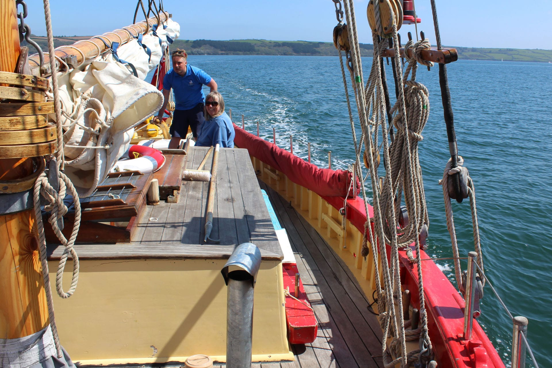 Pettifox guests on deck