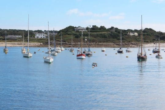 Pettifox moored Isles of Scilly