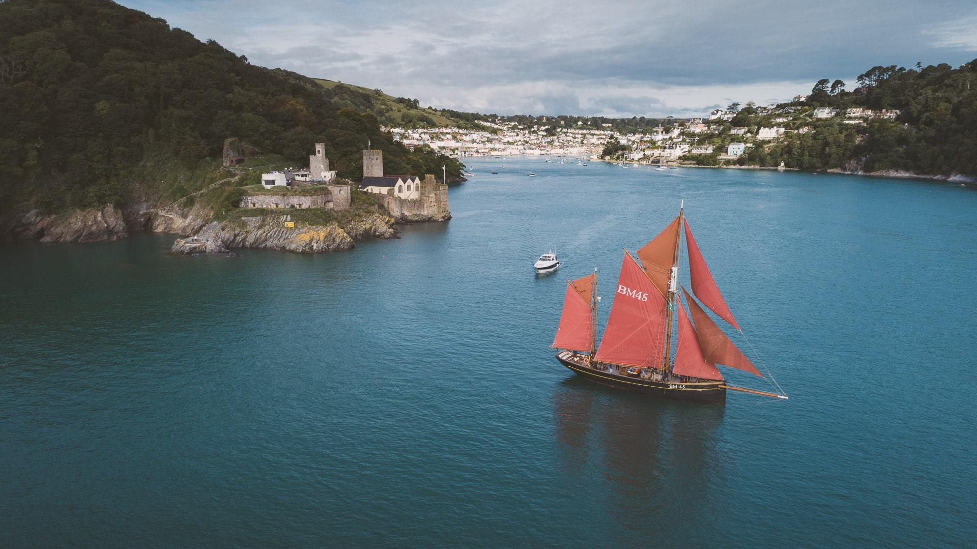 Pilgrim of Brixham Dartmouth sailing