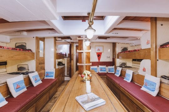 Pilgrim boat below deck