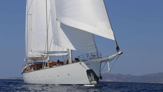 Rhea under sail