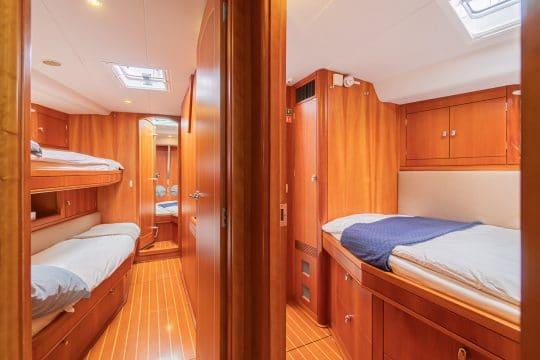 Skyelark luxury oyster yacht cabin area
