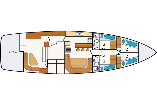 Steady deck plan