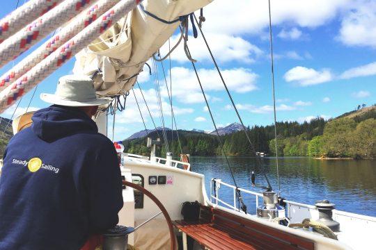 Steady on deck helm