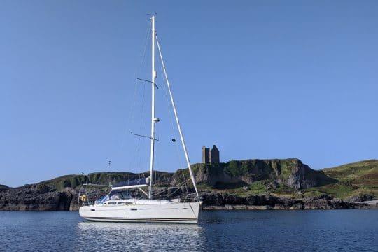 Stravaigin anchored in scotland