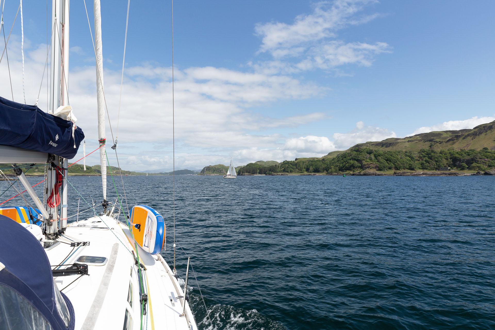 Stravaigin sailing from boat