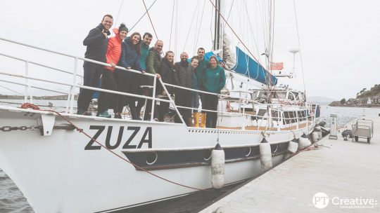 Trek and Sail Guests on zuza
