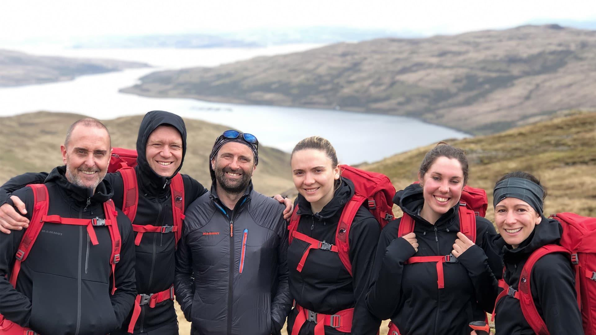Trek and sail guests