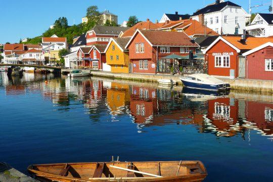 Colourful Norwegian houses
