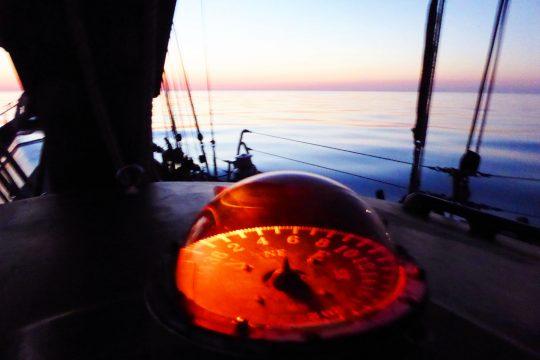 Trinovante compass sunset